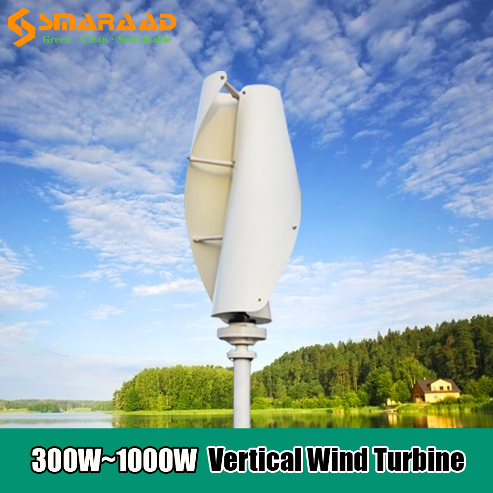 Molino de viento de alta eficiencia, 300W, 400W, 600W, 1000W, 12v, 24v, 48v, Generador de Turbina de Viento Vertical, con controlador, novedad