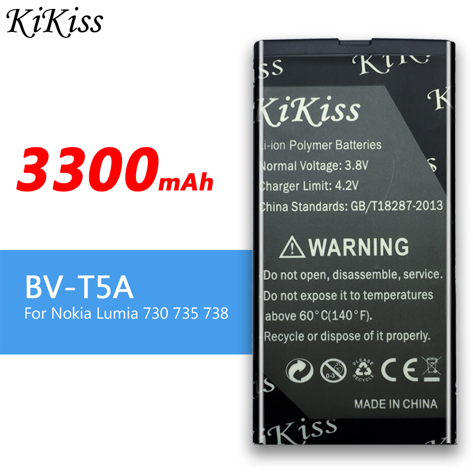 3300mAh BV-T5A Replacement Battery For <font><b>Nokia</b></font> Lumia 730 735 738 Superman RM1038 RM1040 RM 1038 RM <font><b>1040</b></font> image