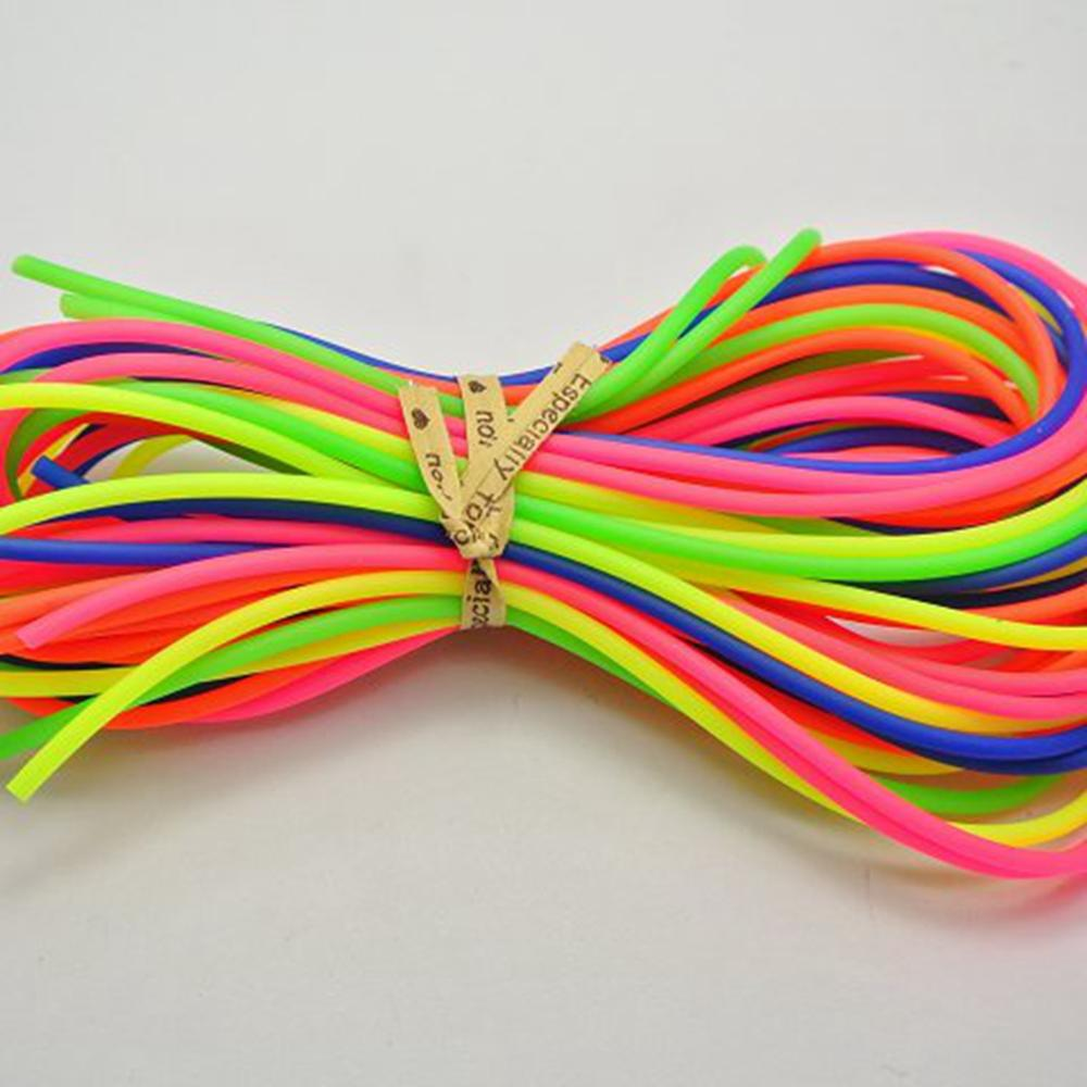 10 Meter Mixed Color 2mm Hollow Rubber Tubing Jewelry Cord Cover Memory Wire title=