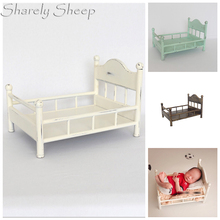 Newborn Photography White Iron Bed Props Infant Shooting Accessories Baby Photo Shoot Posing Bed Basket Prop bebe fotografia newborn baby photography props iron hanging basket decoration fotografia accessories infantil toddler studio shooting photo prop