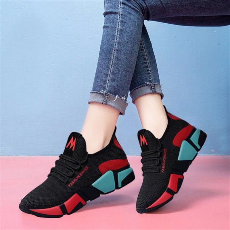 Womens Shoes Sneakers Women Designer Shoes Wedge Platform Sneakers Sprinjg Autumn Casual Fashion Brand Girl Female Mesh Shoes