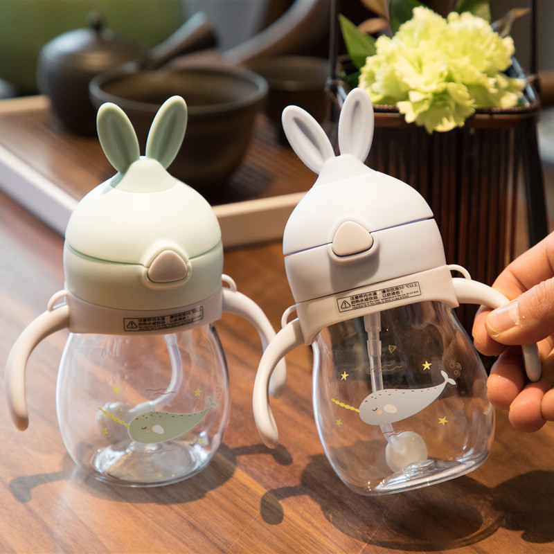 Meadows Bell Children Insulated Cup Straw Baby Sippy Cup Infant Drink Water Cup Shatter-resistant Leakage Kindergarten Pitcher