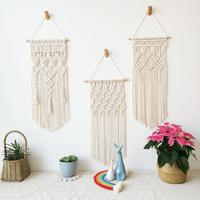 33*72cm Nordic Böhmischen Hand-woven Baumwolle Seil Quaste Wandteppich Dekoration Macrame Wand Hängen Drei stile