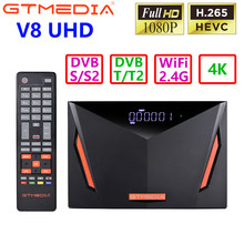 2020 neue GTmedia V8 UHD DVB S2 T2 Combo Satellite TV Receiver Unterstützung 4K PowerVu Biss Youtube Xtream Gebaut-in WIFI Cline Newcamd
