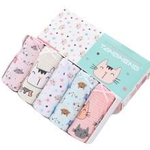 5 Pcs/Lot Pure Cotton Girls Panties Cute Cat Cartoon Girls Underwear 1-14 Years Kids Underpants Girl Child Panty Children Briefs