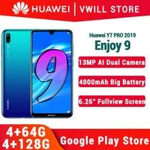 Global ROM Huawei ENJOY 9 Huawei Y7 PRO 2019 โทรศัพท์มือถือ 6.26 OCTA Core 13MP AI Dual กล้อง 4000mAh Face ปลดล็อค