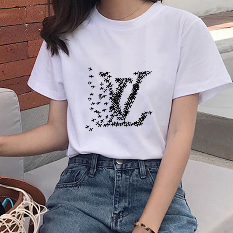 Airplane Graphic Print T-shirt Women Funny Mouse Harajuku Women's Short Sleeve T-shirt Fashion T-shirt Women New Women's T-shirt
