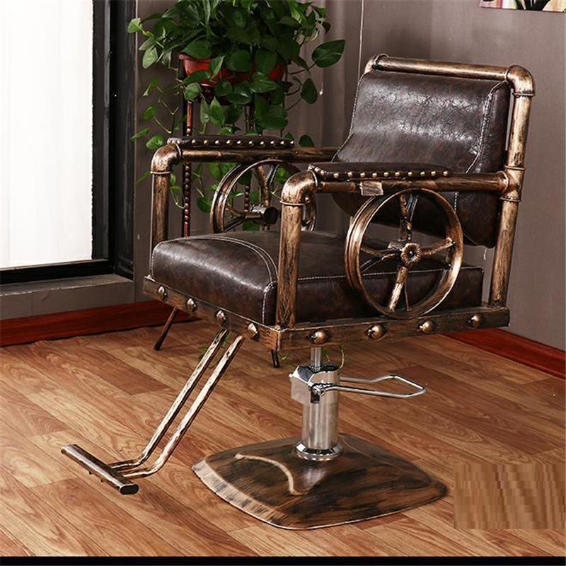 Schoonheidssalon Mueble Stoelen cappersstoelen Barbeiro Hair Sedie De Belleza Sedia Cadeira Salon Barbearia Silla парикмахерское кресло - Цвет: MODEL D