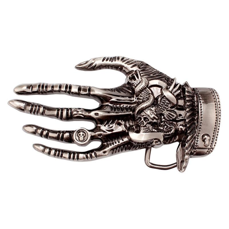Skeleton Hand Belt Buckle Heavy Metal Rock Knight Buckle Belt DIY Homemade Handmade Waistband Components