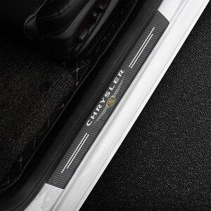 Image 4 - 4Pcs Für Chrysler 300c 300 Pacifica 200 Sebring PT Cruiser Auto Scuff Platte Tür Threshold schwelle Aufkleber Auto Styling logo Abdeckung