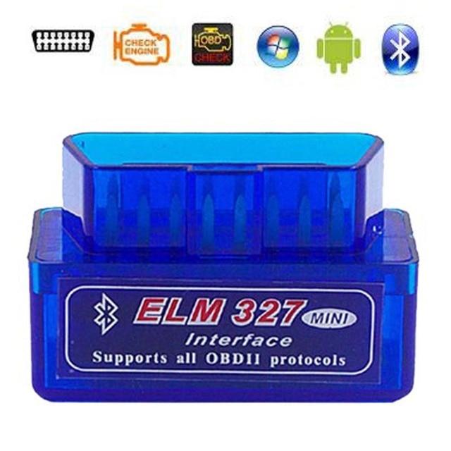 2019 Super Mini ELM327 Bluetooth V2.1 / V1.5 OBD2 Auto Diagnostic Tool Elm 327 Bluetooth Voor Android/Symbian Obdii protocol