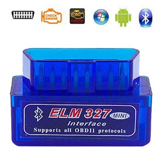 2019 Super Mini ELM327 Bluetooth V2.1 / V1.5 OBD2 Car Diagnostic Tool ELM 327 Bluetooth For Android/Symbian OBDII Protocol