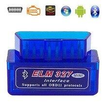 2019 Super Mini ELM327 Bluetooth V2.1 / V1.5 OBD2 strumento diagnostico per auto ELM 327 Bluetooth per protocollo Android/Symbian OBDII