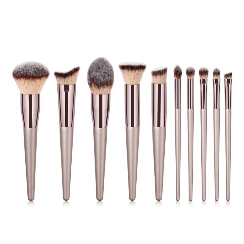 1 PCS Professional Makeup Brush Champagne Gold Coffee Tube Makeup Brush Multifunction Foundation Brush Beauty Tool TSLM1