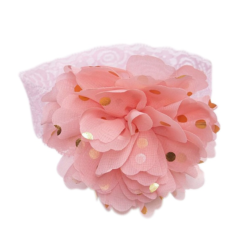 Baby Girls Hairband Lace Headband Flower Headwear Apparel Wreath Photography Prop Party Gift