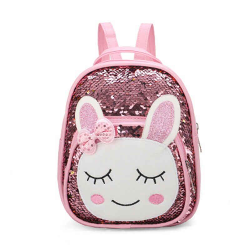 Maluch Kid dzieci dziewczyny Cartoon zwierząt cekiny plecak tornister plecak Bookbag torba podróżna na zewnątrz
