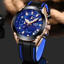 LIGE 2019 New Mens Watches Top Brand Luxury Business Waterproof Sport Chronograph Quartz Watch For Men Relogio Masculino