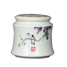 Scatola da tè In Ceramica/Dipinto A Mano Vaso Sigillo Oolong Tè di Stoccaggio Jingdezhen Tè Caddy Kung Fu Tè, Articoli e Attrezzature Accessori Chicco di Caffè caddies(China)