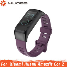 Bracelet for Amazfit Cor 2 Strap Smart Watchband Silicone Strap for Xiaomi Huami Wriststrap Amazfit Cor 2 Wearable Accessories cheap MIJOBS Wrist Strap All Compatible English Russian Spanish Polish Portuguese Italian French German Adult Passometer Fitness Tracker