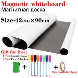 Whiteboard für Kinder Magnetische Trockenen Löschen Bord Schule Weiß Board Kühlschrank Aufkleber Wand Bord Nachricht Board mit Doppel-seitige band
