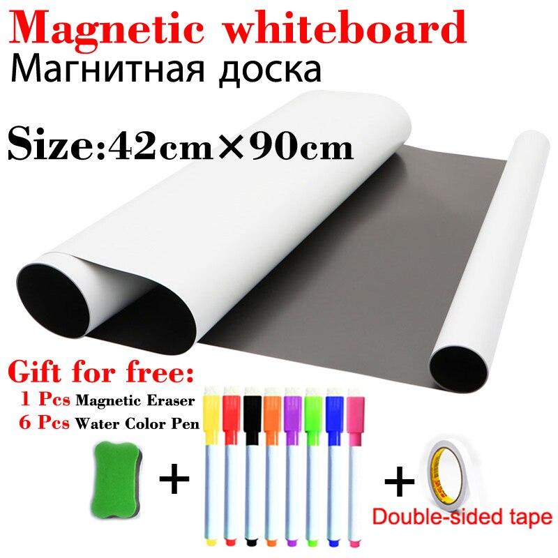 Whiteboard For Kids Magnetic Dry Erase Board School White Board Fridge Stickers Wall Board Message Board With Double-sided Tape