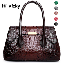 2019 New Vintage Luxury Bag Women Alligator Handbags High Quality Bags Designer Crossbody Big Tote