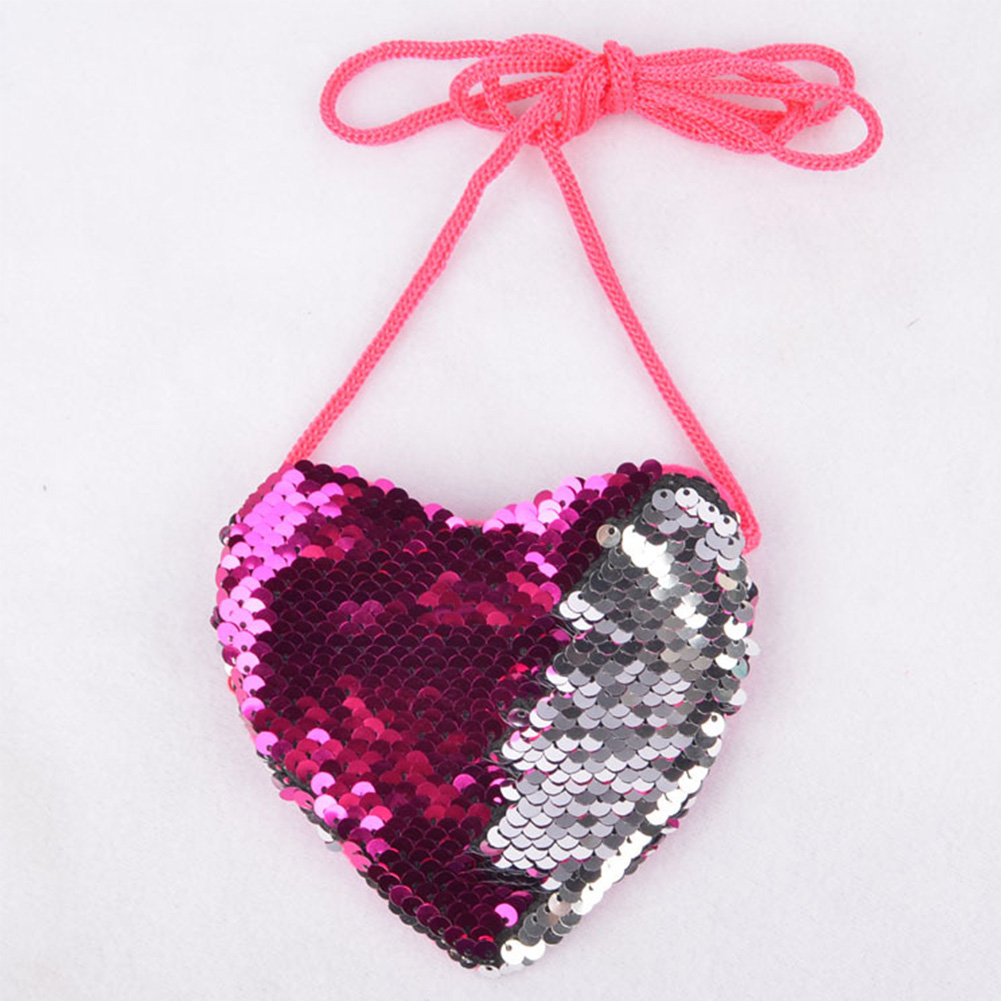 Coin-Purse Messenger-Bag Gift Sequins Zipper Mini Portable Fashion Children Cute Love