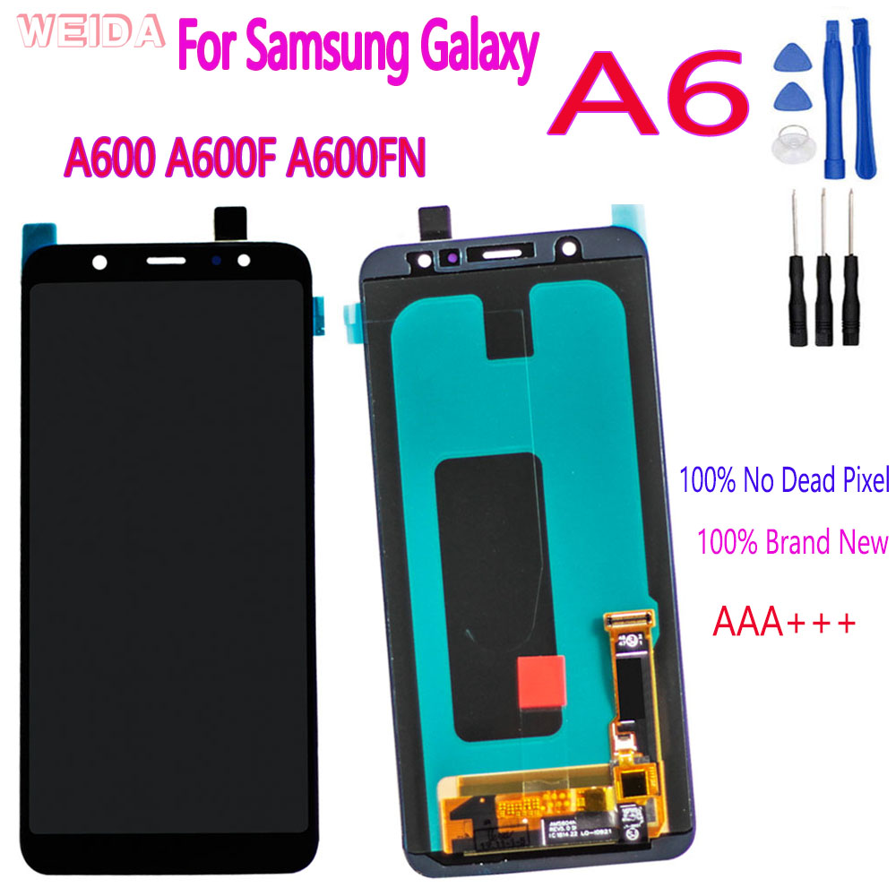 AAA+++ For <font><b>Samsung</b></font> <font><b>Galaxy</b></font> <font><b>A6</b></font> 2018 A600 LCD <font><b>Display</b></font> Touch Screen Digitizer Assembly Replacement For <font><b>SAMSUNG</b></font> <font><b>A6</b></font> A600F A600FN LCD image