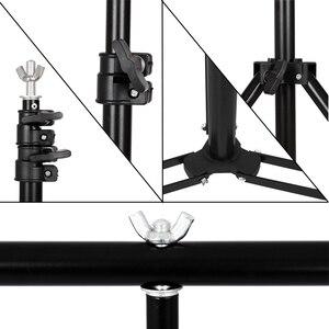 Image 5 - Фон для фотосъемки в форме буквы т стойка регулируемая система поддержки фотостудия для нетканого муслинового фона