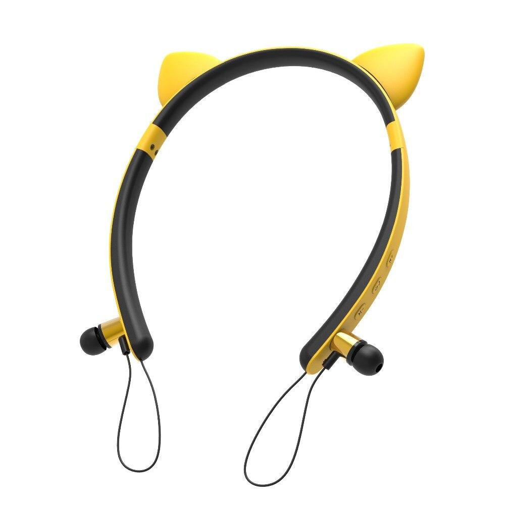 Bluetooth Wireless Headphones Magnetic Adsorption Wireless Earphones with Microphone Ear Detachable Design