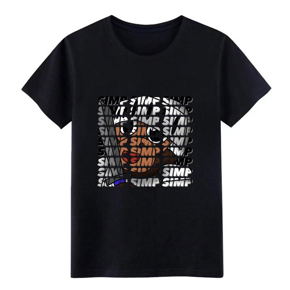Simp Simp Simp     T Shirt Men Knitted Tee Shirt S-XXXL Leisure Fitness Humor Spring Slim Shirt