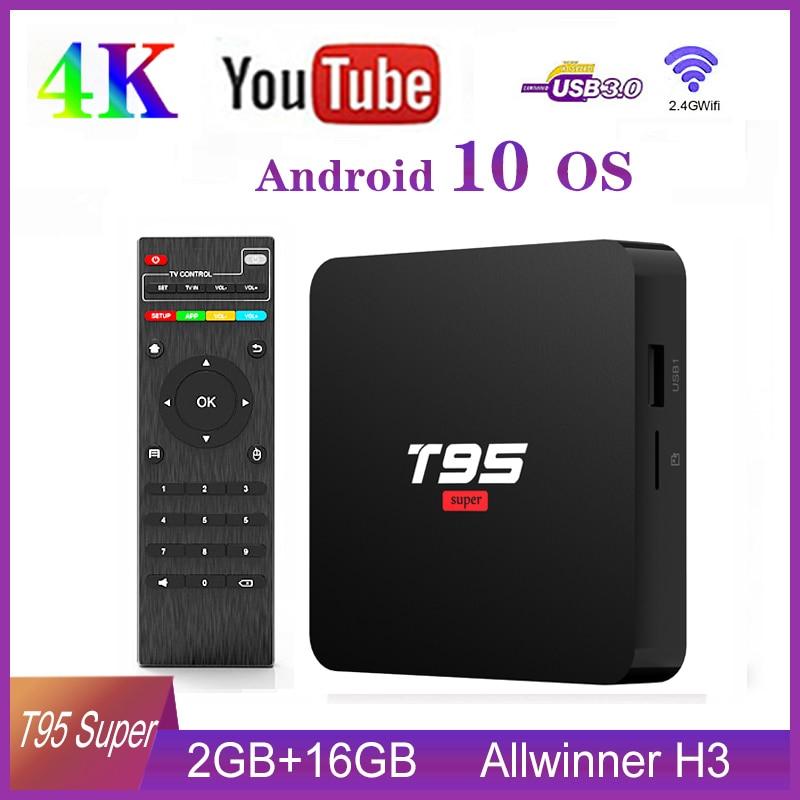 T95 Super Android 10.0 TV Box 2GB 16GB Allwinner H3 Quad Core 4K HDR 2.4G Wifi