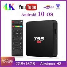 T95 Super Android 10.0 TV Box 2GB 16GB Allwinner H3 Quad Cor
