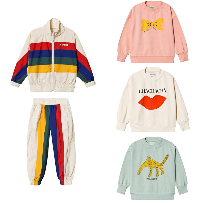 2020 BC Brand New Spring Summer Kids Sweaters For Boys Girls Fashion Print Sweatshirts Baby Child Cotton Outwear  Clothes