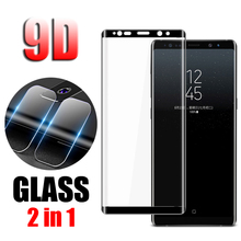 2 in 1 Back Camera Lens Film 9D Tempered Glass Protective For Samsung Galaxy Note 8 Note8 HD Screen Protector