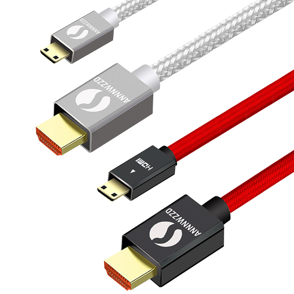 Mini HDMI Cable Mini HDMI To HDMI Cable 1080P 3D Effect Mini HDMI To HDMI High Speed Adapter With For Camera Monitor Projector