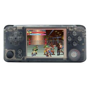 Calidad Rs97 Plus sistema doble consola de juegos Retro 30 + emuladores IPS Sn mando de juegos portátil 360 grados controlador