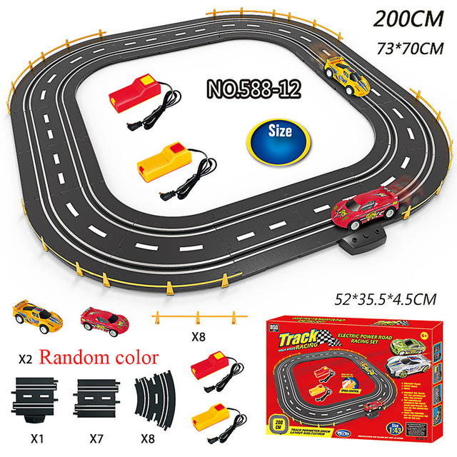 1:43 Electric Track Railway Toys Slot Car Set Autorama Circuit Voiture Double Remote Control Racing Track For Boy Children Gift 4