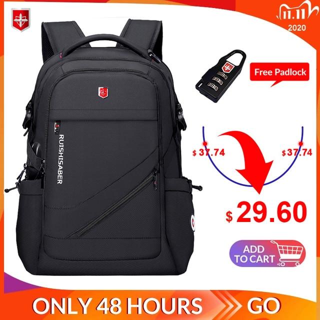 Anti thief USB Charging Laptop Backpack Men Oxford bagpack Waterproof Travel Backpack Vintage School Bag 15/17inch Male Mochila