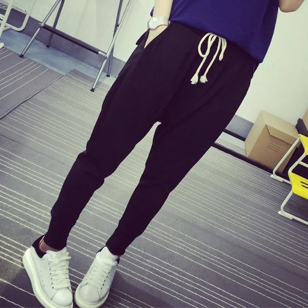 New Style Couples Skinny Athletic Pants Women's Autumn And Winter Men And Women Celebrity Style Trousers Closing Students Slimmi