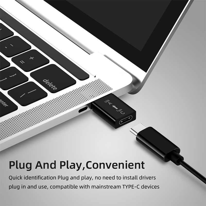 USB ذكر إلى نوع-c موصل سالب شحن اختبار 3.1 USB C أنثى قرص صلب USB 3.0a ذكر محول لهواوي شاومي سامسونج