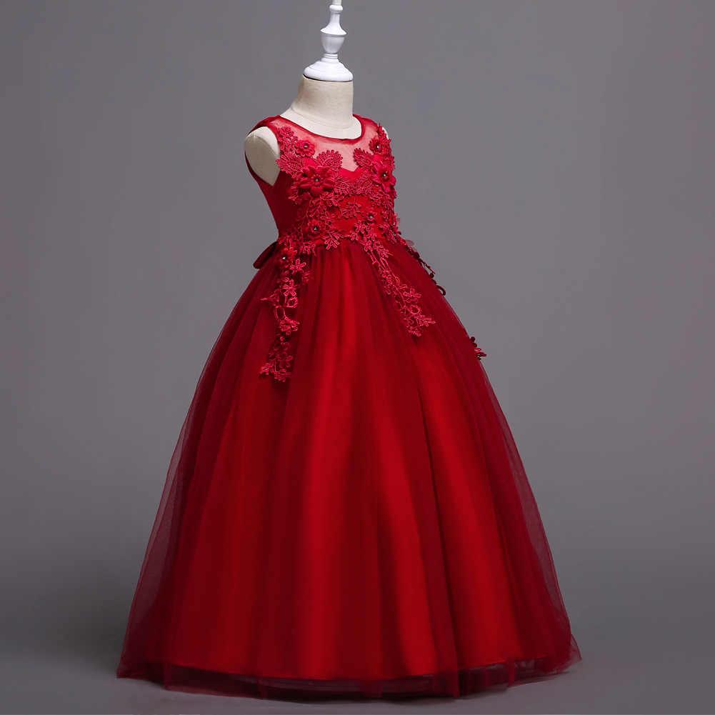 それの YiiYa フラワーガールドレスグリーン · ブルー · パープルレース子供ウェディングパーティードレス O 聖体のドレス女の子 832