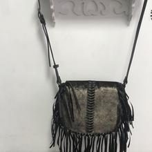 Crossbody-Bag Handbag Black Tassels Luxury Designer Women Ladies for Hot-Style Spain