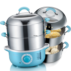 Multifunctional Household Electric Steamer Automatic Power Off  Thickened Stainless Steel  Food Steamer  Electric Steamer 220v