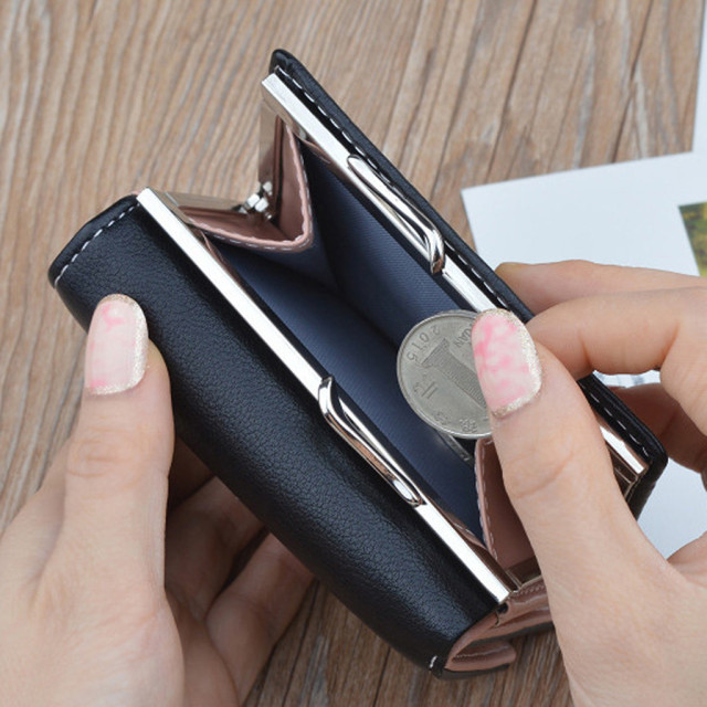 2019 Women Wallet Leather Wallet Short Cute Deer Purse Pocket Ladies Clutch Wallet Card Holder Cute Girls Portfel Damski 823