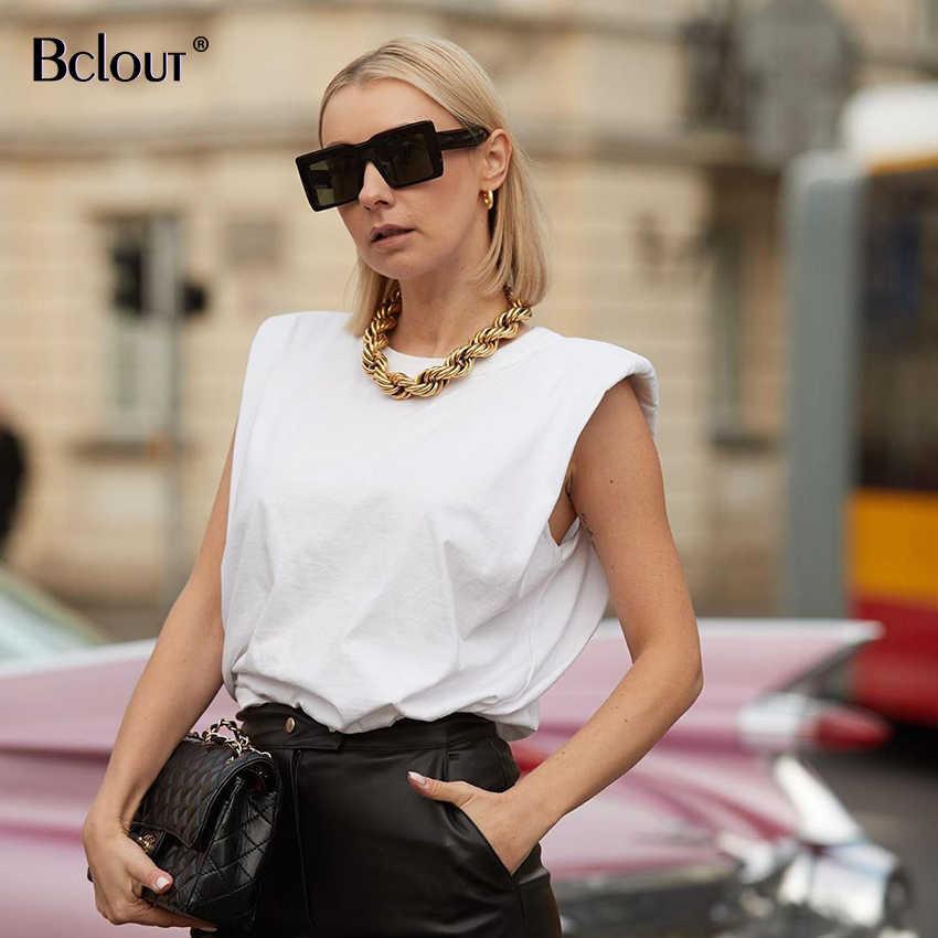 صيف الخريف بلا أكمام فضفاض قميص المرأة موضة س الرقبة تانك القمم سترة رياضية أنثى عادية الأساسية قميص الشارع الشهير كاميس 2020