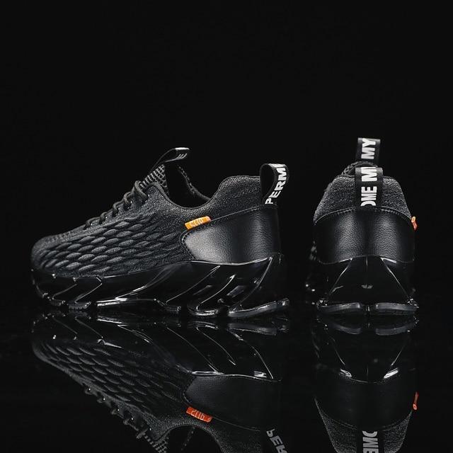 Men Blade Shoes Soft Running Shoes Men's Breathable Walking Jogging Shoes Outdoor Fashion Shoes Men Casual Cool Black 2