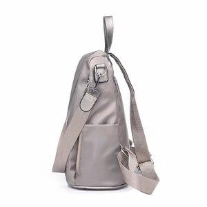 Image 2 - Multifuncional mochila feminina oxford à prova dsmall água bagpack feminino pequeno backpak adolescente meninas bookbag mochila antirrobo sac a dos