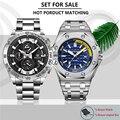 BENYAR набор Мужские часы модные бизнес часы для мужчин лучший бренд класса люкс Хронограф Мужские водонепроницаемые спортивные часы Relogio ...