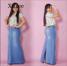 africa Vintage Fish Tail Denim Skirt Women Jeans Floor Maxi Long Skirt Back Slit Mermaid Trumpet Empire High Waist Stretchy plunge crisscross open back high slit maxi dress